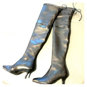 Stuart Weizman over the knee boot in Nappa leather